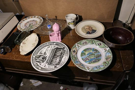 Assorted Stoneware, glass, bottle etc lot