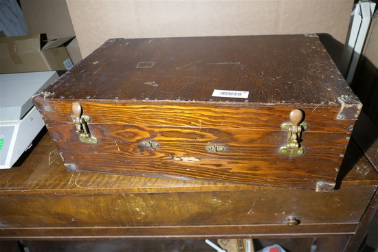 Antique Wooden Military Style Box