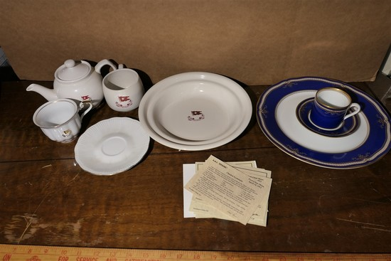 Group lot repro Titanic white Star China