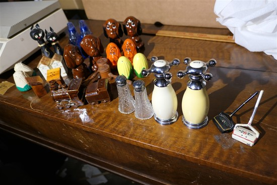 Large lot vintage salt & pepper shakers etc