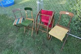 Group Lot Antique Folding Chairs