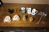 Assorted ceramic and glass items, stoneware