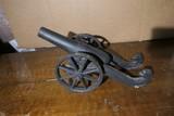 Large Cast Iron Model Cannon