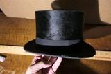Antique Man's Beaver Top Hat