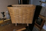 Large Longaberger Magazine Rack Basket