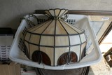 Leaded Stained Glass Hanging Lamp