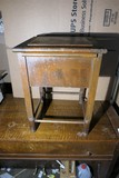 Antique wooden, Enamel Privy Toilet
