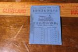 Rage 1847 Great Lakes Niagara Steamer Ticket