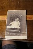 Strange pre or post mortem Cabinet Card Photo of Child