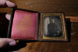 Folky 1840s Portrait of Man Daguerreotype