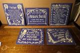 Group Vintage Kitschy Religious Art pieces