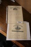 2 Civil War Documents - Payment