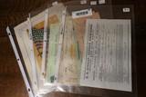 Large Lot assorted antique documents etc