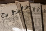 Group of 4 Civil War Era Newspapers