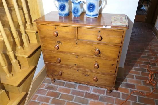 19th c. Pine Dresser or Cabinet