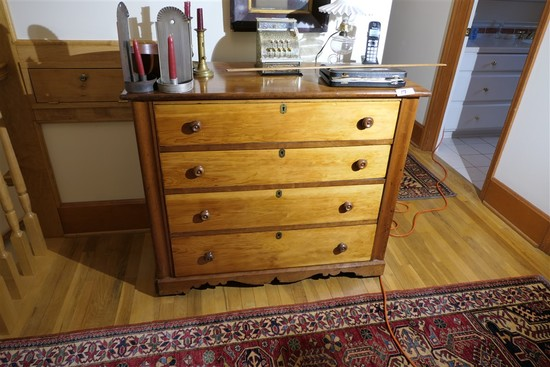 Antique Early Dresser w/Fancy Skirt