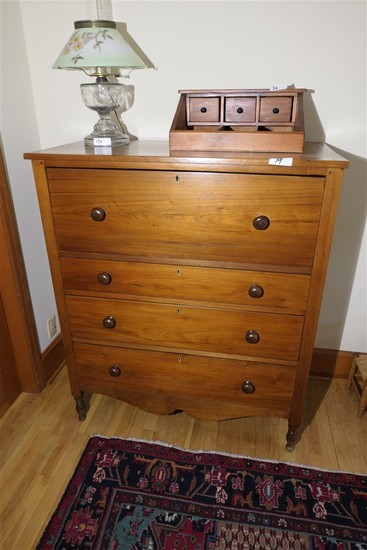 Antique 19th c Transitional Dresser Bureau