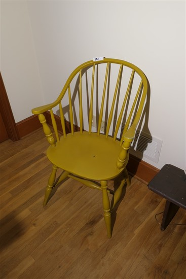 Antique Mustard Transitional Windsor Chair