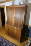 Antique Walnut Step Back Cupboard