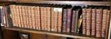 Single Shelf Lot Antique Books PLUS Bookends