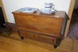 Unusual Antique Blanket Chest w/Drawers