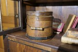 Antique Banded Firkin Wooden Bucket