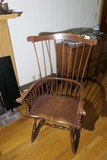 Antique Comb Back Windsor Chair Nicely Decorated