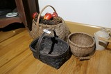Group lot of 3 Antique Baskets Inc. Buttocks