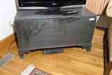 Antique Blanket Chest Old Paint, Signed