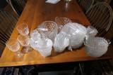 Large Lot Fostoria American Pattern Glass