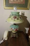 Antique Oil Lamp Glass Top & Bottom