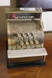 Vintage Metal Benjamin Franklin Toy Cash Register