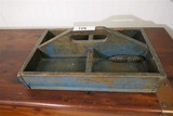 Antique Tool or Nail Carrier w/Original Blue Paint
