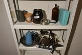 2 Shelves Antique, Primitive items