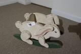 Wooden Rabbit Vintage Child's Toy