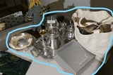 Group Lot assorted silverplate items