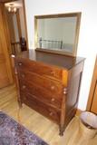 Antique Empire Dresser w/Mirror