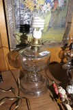 Antique Early Glass Oil Lamp