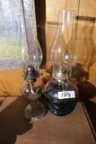 2 Antique Oil Lamps