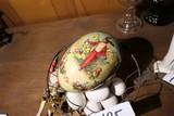 German Easter Egg, Eggs in basket, xmas ornament.
