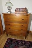 Antique 19th c Transitional Dresser Bureau