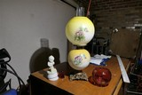 Antique Oil Lamp etc lot