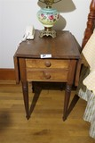 Antique Sheraton Two Drawer Stand or Work Table