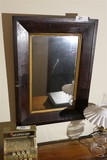 Early Antique Mirror w/Old Glass
