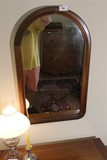 Vintage Tombstone Shaped Mirror