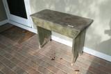 Antique primitive wooden bench