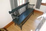 Long Antique Wooden Bench