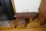 2 Antique Benches - One w/Old Paint