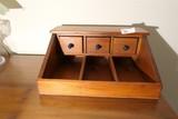 Vintage Wooden Dresser Top Organizer