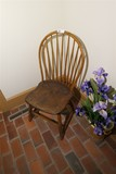 Antique Plank Bottom Chair w/Bent Wood back